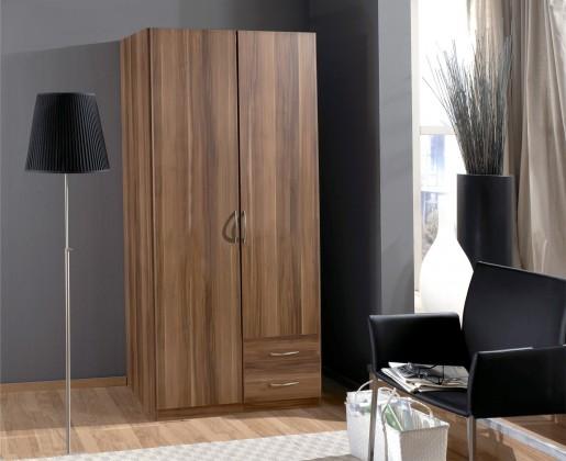 Klasická skříň Sprint - skříň 90 cm,2x dveře,2x zásuvka (francouzský ořech)