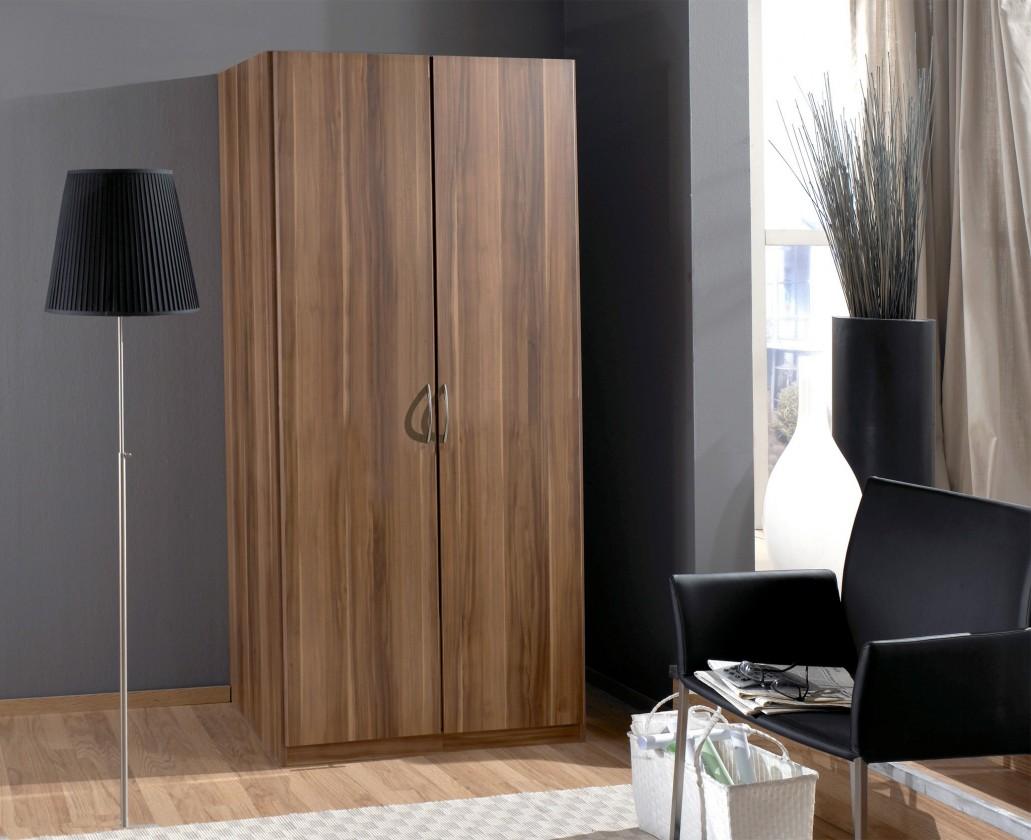 Klasická skříň Sprint - skříň 90 cm,2x dveře,4x police (francouzský ořech)