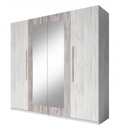 Klasická skříň Vera - Skříň 228x214x58 cm, klasické dveře, zrcadlo, pinie