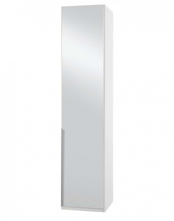 Klasické NewYork7 - Skříň, 50/234/58 (zrcadlo/alpská bílá)