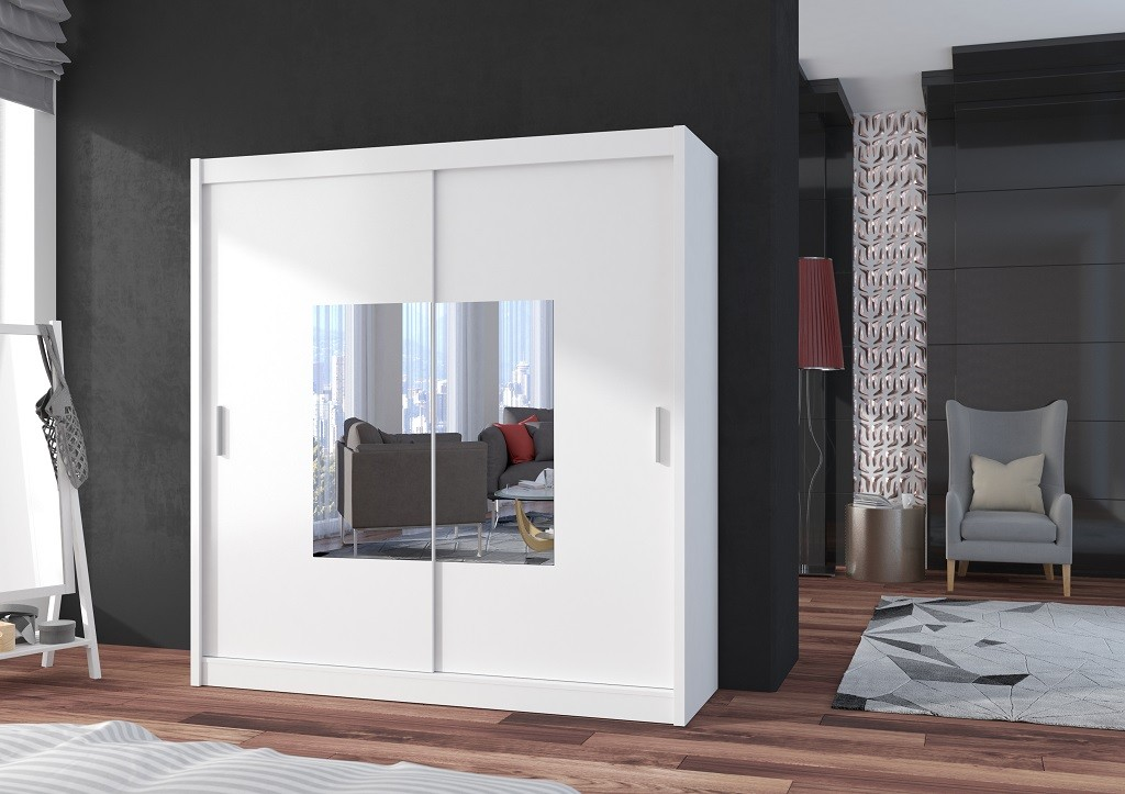Klasické Šatní skříň Eira - 180x215x61 (bílá)