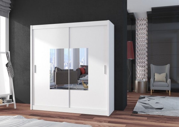 Klasické Šatní skříň Eira - 203x215x61 (bílá)