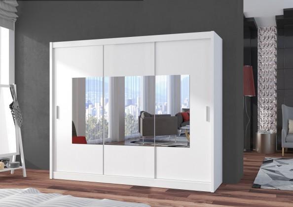 Klasické Šatní skříň Eira - 250x215x61 (bílá)