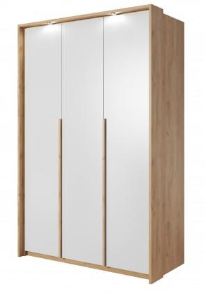 Klasické Šatní skříň Xelo 141 cm (dub zlatý/bílá)
