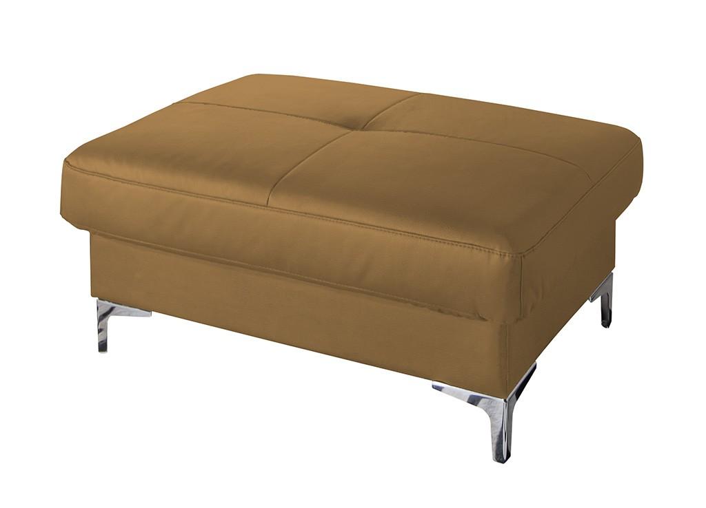 Klasické taburety Kožený taburet Sammy obdélník béžová