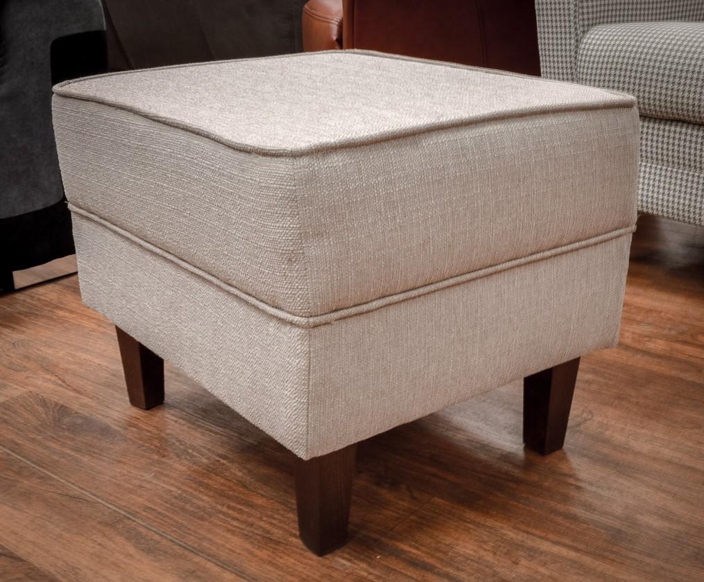Klasické taburety Taburet Casis obdélník krémová, hnědá