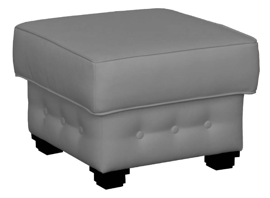 Klasické taburety Taburet Chesterfield čtverec šedá