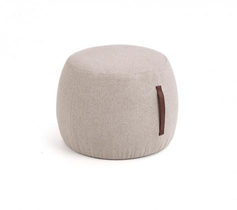 Klasické taburety Taburet Dax kruh šedá (látka)