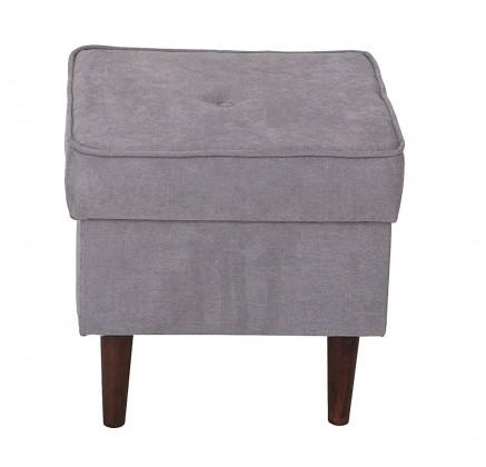 Klasické taburety Taburet Flo čtverec šedá