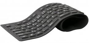Klávesnice C-TECH FK-01, gelová, flexibilní, černá, CZ/SK