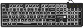 Klávesnice Connect IT CKB-4041-CS, podsvícená, CZ/SK