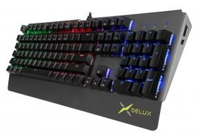 Klávesnice Delux KM06, herní, LED podsvícení, černá