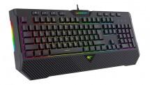 Klávesnice Havit KB486L, herní, podcvícená, černá