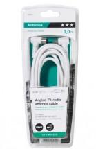 Koaxiální kabel Vivanco 43034, úhlový, 3m
