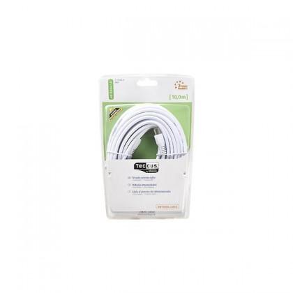 Koaxiální kabel Vivanco V30221, 10, bílý