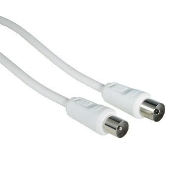 Koaxiální kabely, konektory Anténní kabel Hama 42966, 75 dB, bílý, 15 m