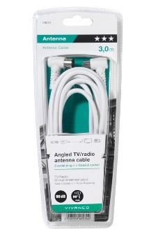 Koaxiální kabely, konektory Koaxiální kabel Vivanco 43034, úhlový, 3m