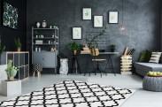 Koberec Black & white (80x150 cm, bílá)