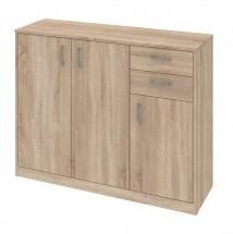 Kobo - komoda, 3 dveře, 2 zásuvky, 3 police (dub bardolino)