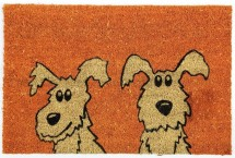 Kokosová rohožka Dva psi (40x60 cm)