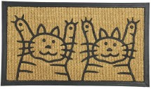 Kokosová rohožka Dvě kočky (40x70 cm)