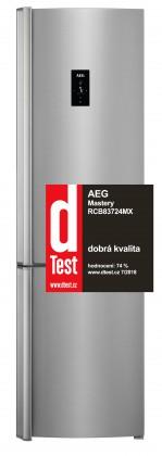 Kombinovaná lednice s mrazákem dole AEG Mastery RCB83724MX, A++