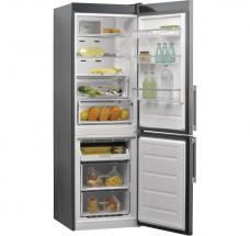Kombinovaná lednice s mrazákem dole Whirlpool W9 821D OX H