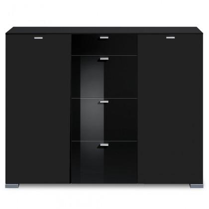 Komoda Gallery HG16 (černá/černý lak HG)