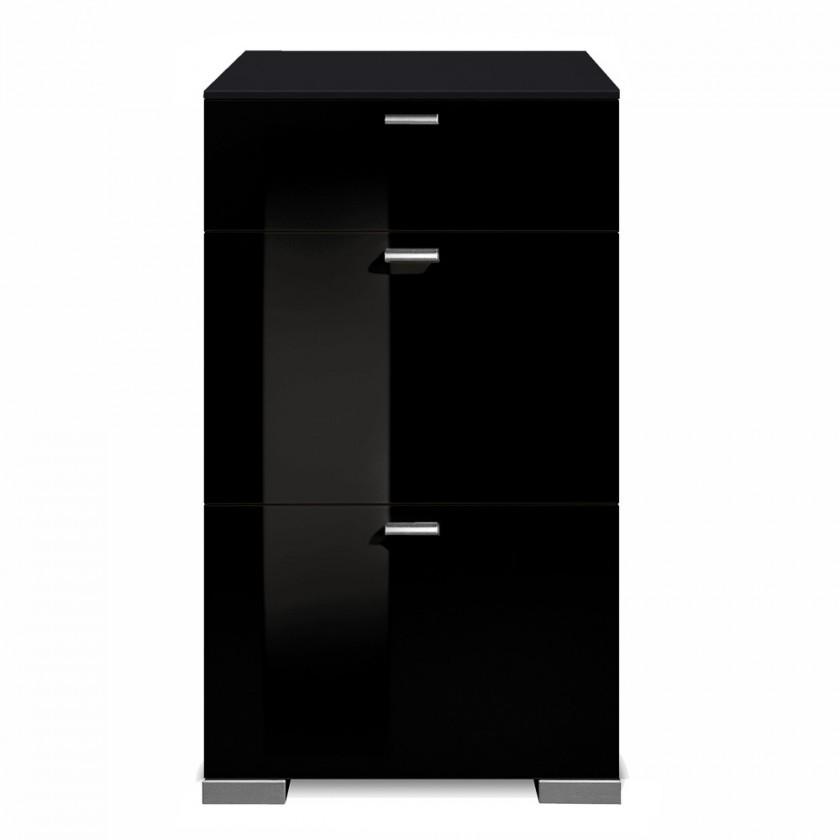 Komoda Gallery HG2 (černá/černý lak HG)