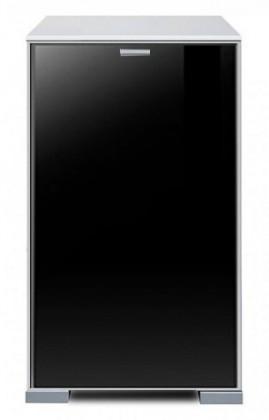 Komoda Gallery Plus 11 (bílá/sklo černé)