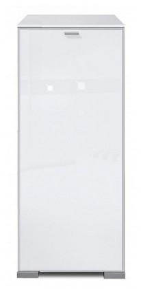 Komoda Gallery Super Plus 1 - Komoda (bílá/sklo číré bílé)