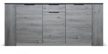 Komoda Glen (1x zásuvka, 3x dveře, figaro, beton)