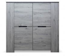 Komoda Glen (4x dveře, figaro, beton)