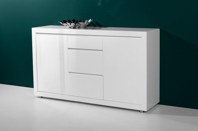 Komoda GW-Fino - Skříňka,2x dveře,3x šuplík (bílá)