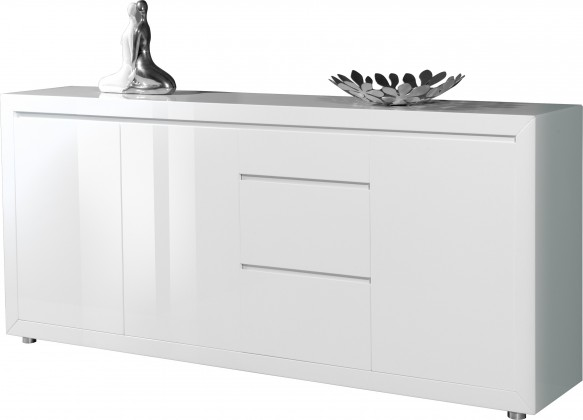 Komoda GW-Fino - Skříňka,3x dveře,3x šuplík (bílá)