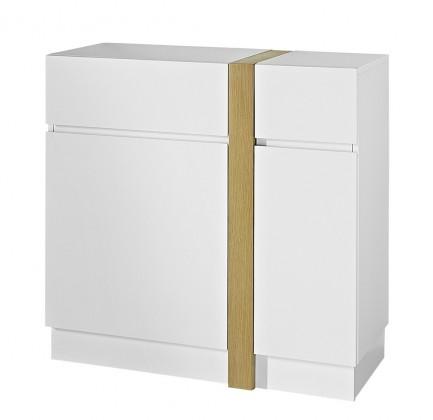 Komoda GW-Loft - Skříňka,2x dveře,1x šuplík (bílá)