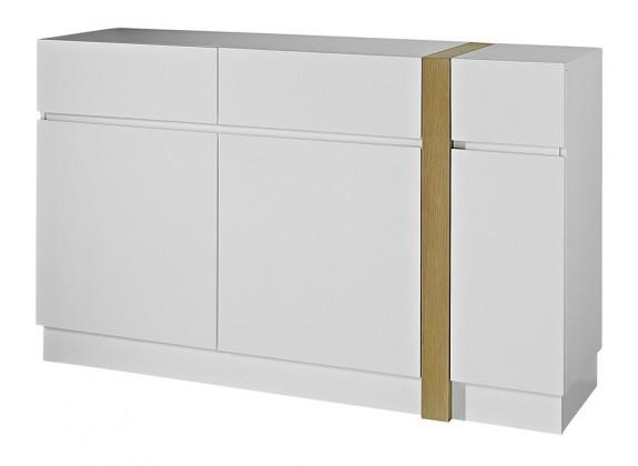 Komoda GW-Loft - Skříňka,3x dveře,2x šuplík (bílá)