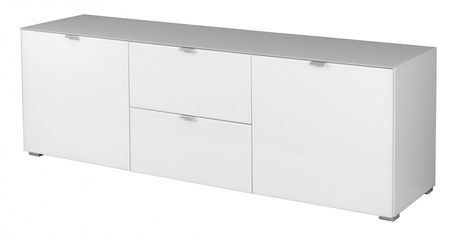 Komoda GW-Primera - skříňka, 2x dveře, 2x šuplík (bílá)