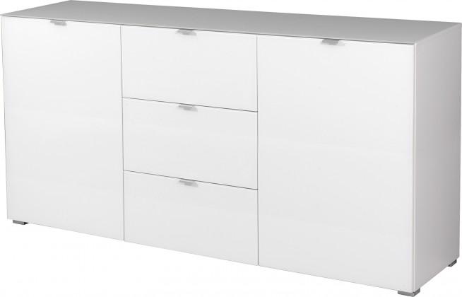 Komoda GW-Primera - skříňka, 2x dveře, 3x šuplík (bílá)
