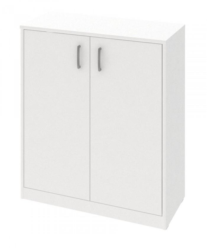 Komoda Kobo - komoda, 2 dveře, 2 police (bílá arctic)
