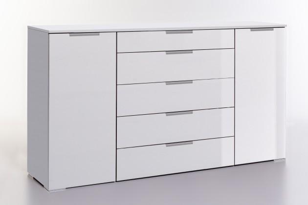 Komoda Komoda LevelUp D - kombi, 5x zásuvka + 2x dveře (bílá VL/bílá)