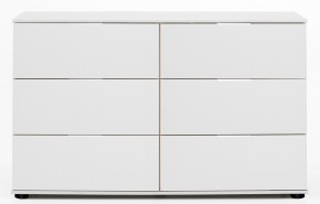 Komoda Medina - 6x zásuvka, alpská bílá - II. jakost