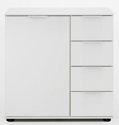 Komoda Medina - Komoda, 4x zásuvka, 1x dveře (alpská bílá)