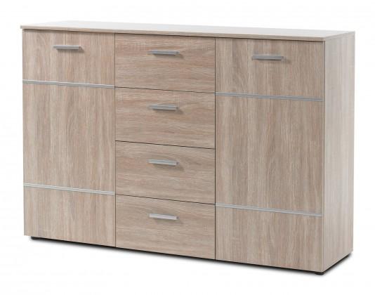 Komoda Panteras - Komoda, 2x dveře, 4x zásuvka (dub sonoma)