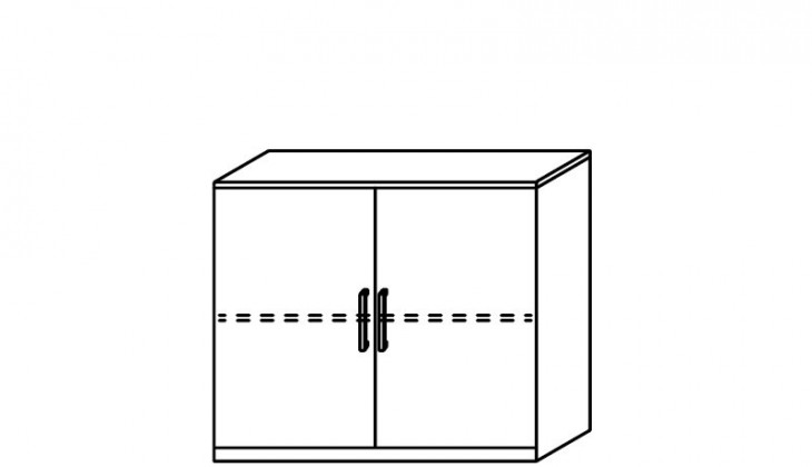 Komoda Quadra - komoda, 2x dvířka