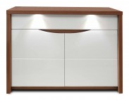 Komoda Saint Tropez-STZK221B(dub sangalo/bílý lesk) - II. jakost