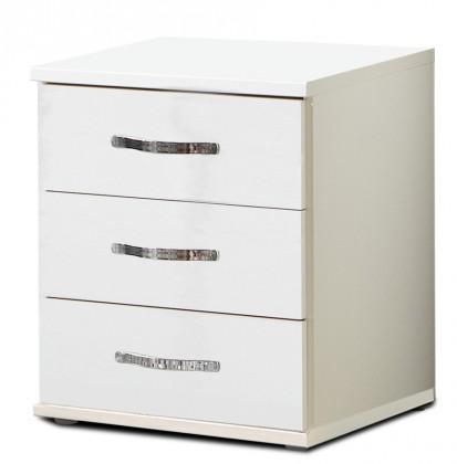 Komoda Trio - Komoda, 3x zásuvka (perleťová bílá/alpská bílá)