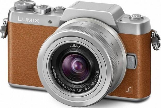 Kompakt s výměnným objektivem Digitální fotoaparát Panasonic Lumix DMC-GF7, hnědý
