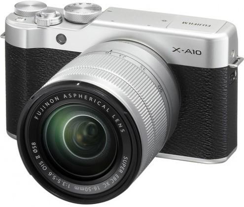 Kompakt s výměnným objektivem FUJIFILM X-A10 silver/black + XC16-50