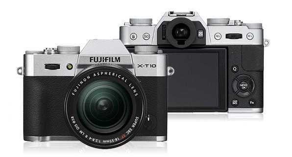 Kompakt s výměnným objektivem Fujifilm X-T10 Silver + objektiv XC16-50mm